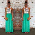 Women Summer Long Maxi BOHO Chiffon Evening Party Dress Beach Dresses Sundress