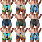 Cool Men's Fashion 3D Cartoon Cotton Shorts Denim Jeans Boxer Briefs Underwear