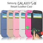 Flip Leather View Window Smart Case Stand Cover for Samsung Galaxy S3 III i9300