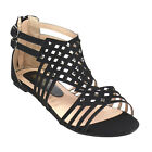 Beston GB38 Women's Double Buckles Gladiator Flat Sandals About One Size Large
