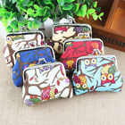 Lovely Multi-color Owl Design Canvas Coin Money Bag Purse Wallet For Women Gift