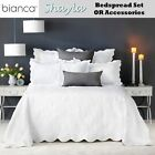 Shayla White Embroidered Bedspread with Pillowcase(s) OR Accessories by Bianca
