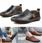New Men's Comfy 100% Leather Casual Slip On Loafer Shoes Moccasins Driving Shoes
