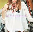 New Fashion Womens Ladies Girls Student Polyester Mesh Chiffon Summer Shirt Size
