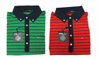Ralph Lauren RLX Golf Mens Red Green Navy Striped Moisture Wicking Polo Shirt