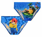 Boys Minions Swimming Trunks New Kids Despicable Me Character Swimwear 3-8 Yrs