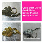 Grape Leaf Clasps Large Clasp Findings Gold Silver Brass Plated Jewelry Findings