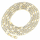 1/10th 10K Yellow Gold Diamond Cut Figaro Link Chain Necklace 4 mm 18-30 Inches