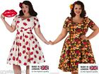 New Lady V London Phoebe Dress 1950´s Retro Vintage Rockabilly 16 22 24