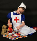 WW1-WW2-Edwardian-Deluxe Wartime Nurse Child Dressing up Fancy dress Costume