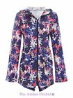 Womens Ladies Showerproof Parka Fishtail Rain Mac Hooded Splash Print Jacket