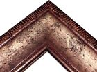 """2 1/2""""Smokey Silver with Brown Distressed Solid Picture Frame-Custom Square Size"""