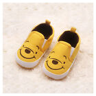 Baby Boy Girls Shoes Kids First Walkers Cute Yellow Bear 0-12 months