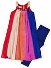 Girls Vibrant Legging Set New Girls Tunic Top Dress Legging Outfit Ages 2-10 Yrs