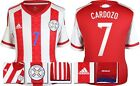 *2015 - ADIDAS ; PARAGUAY HOME SHIRT SS / CARDOZO 7 = SIZE*