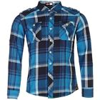 Lee Cooper Mens Checked Shirt Cotton Long Sleeve Clothing