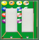 Light Switch Plate Cover - Game Room Decor - Pool Table - Home Decor