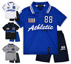 Boys Athletic Polo Shirt And Shorts New Kids T-Shirt And Short Set Ages 2-12 Yrs