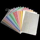 1pc A4 white Paper 10mm Diameter Dots Self-adhesive Stickers Paper Labels