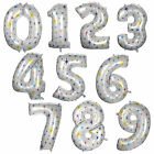 "New 1/2/5pcs White & Star Color 40"" Number 0-9 Foil Balloons NAME PARTY WEDDING"