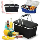 High Quality Folding Picnic Camping Insulated Cooler Cool Hamper Basket Zip Bag