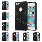 For iPhone Samsung TPU+PC Deluxe With Dustproof Plug Anti-Shock Solid Case Cover