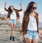 2015 Fashion ladies women fall fringe Tassel jackets clothes womens Faux Coat