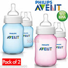 Philips Avent Classic+ Baby Feeding Bottle Pack of 2 x 260ml/9oz - Pink or Blue