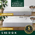 All Size Mattress Protector Waterproof Fully Fitted Bamboo Fibre Fiber Cover