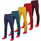 New Mens Kushiro City Chino Jeans Coloured Cotton Trousers Casual Slim Fit Pants