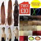 Real Quality Hair Extensions Clip In Hair feel like Remy Human Hair Black Blonde