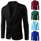 Men Casual Slim Formal One Button Suit Blazer Coat Jacket Bussines Tops 8 colors
