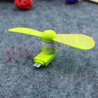 PORTABLE MOBILE PHONE POWERED AIR COOLING FAN MICRO USB PORT FOR TRAVEL PICNIC