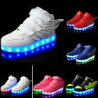 Boys Girl Colorful LED Light UP Shoes Sneakers Kids Flats Shoes Casual Sports