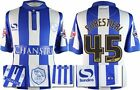 *15 / 16 - SHEFFIELD WEDNESDAY HOME SHIRT + PATCHES / FORESTIERI 45 = KIDS SIZE*