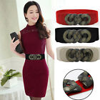 3 Color Metal Buckle Adjustable Elastic Wide Waist Belt Stretch Waistband Girdle