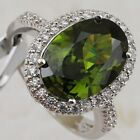 Size5 6 7 8 9 Gorgeous Awesome Peridot Green Gems Jewelry Gold Filled Ring R2413