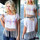 Sexy Women Boho Vest Top Tassel Shirt Blouse Summer Casual Ladies Tank Tops