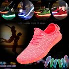 Fashion Unisex LED Light UP shoes Summer Casual shoes Lace Up Luminous Sneaker