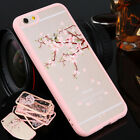 UltraThin Clear Hard Sakura Pattern Phone Case For  iPhone 5S 6/6s Plus