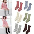 Toddler Kids Girls Cotton Lace Soft Knee High Cuffs Kid Socks Tights 6 Colors