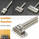 2/4/6 Hole Row Leather Craft Round Hole Punch Cutter Puncher 8mm Spacing