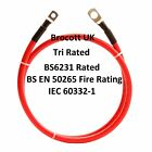 25mm BATTERY JUMPER LEAD CABLE 136AMP TRIRATED CABLE 150mm To 8mtr (RED)