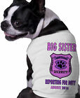 Big Sister Security Sheriff Personalized Dog Shirt Custom Name Date Announcement