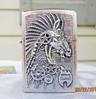ZIPPO CYBER HORSE HEAVY EMBLEM LIGHTER WITH CHROME FINISH- SPRING 2016 DESIGN