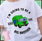 GARBAGE TRUCK BIG BROTHER SHIRT PERSONALIZED SHIRT PERSONALIZED MONTH AND YEAR