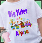TRAIN BIG SISTER SHIRT PERSONALIZED NAME SAFARI ZOO ANIMAL ANNOUNCEMENT SHIRT