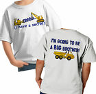 SHHH I HAVE A SECRET BIG BROTHER SHIRT PERSONALIZED CONSTRUCTION DUMPTRUCK