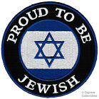 PROUD TO BE JEWISH embroidered iron-on PATCH ISRAEL FLAG STAR OF DAVID JUDAICA