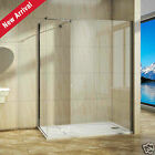 Walk In Wet Room Shower Enclosure Stone Tray Curved Glass Cubicle Screen Panel